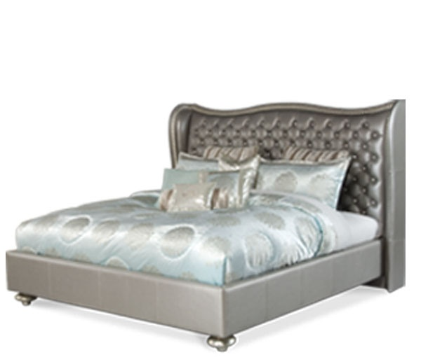Leather Tufted headboard.  For the Home  Pinterest