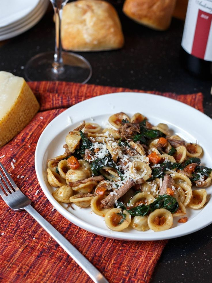 Orecchiette with Braised Short Ribs and Swiss Chard | Recipe