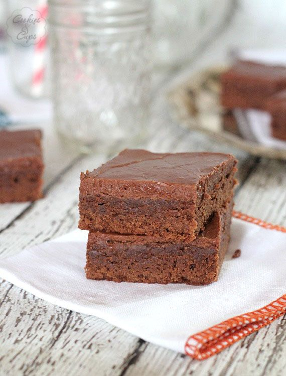 My Kids' Favorite Brownies! So easy.. you frost them warm so the ...