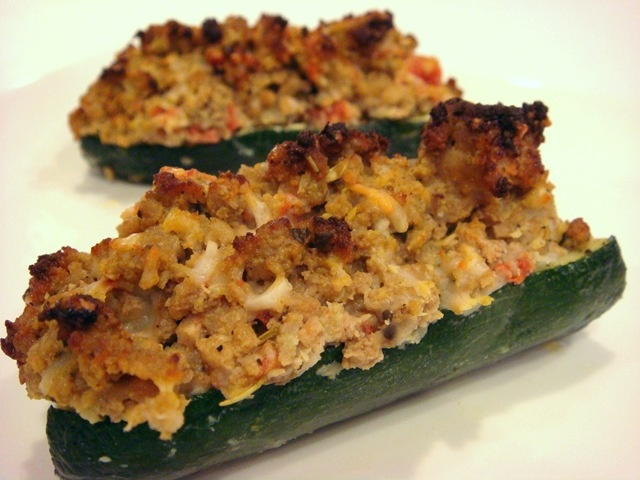 Zucchini Boats with Turkey Sausage | Recipes | Pinterest