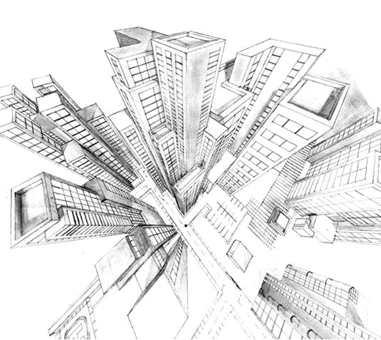 Two-point perspective worksheets