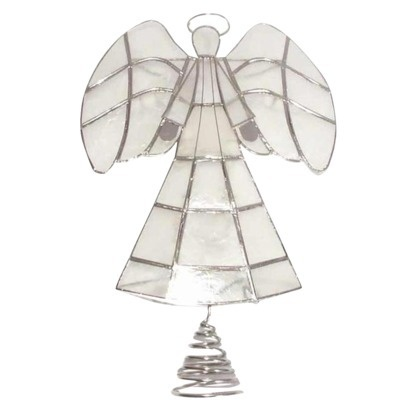 10lt capiz angel tree topper silver crafts pinterest. Black Bedroom Furniture Sets. Home Design Ideas