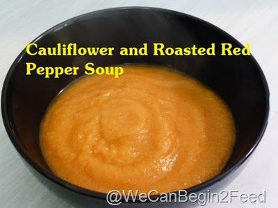 Cauliflower and Roasted Red Pepper Soup from @Elle #soup #recipe