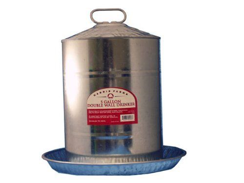 Wall Water Fountains Components : Galvanized Metal 5 Gallon Chicken ...