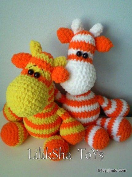 Crochet Giraffe : Amigurumi Pattern Giraffe Lulik by LilikSha on Etsy, $3.50