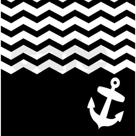 Black And White Chevron Anchor Shower Curtain On My Future Ho