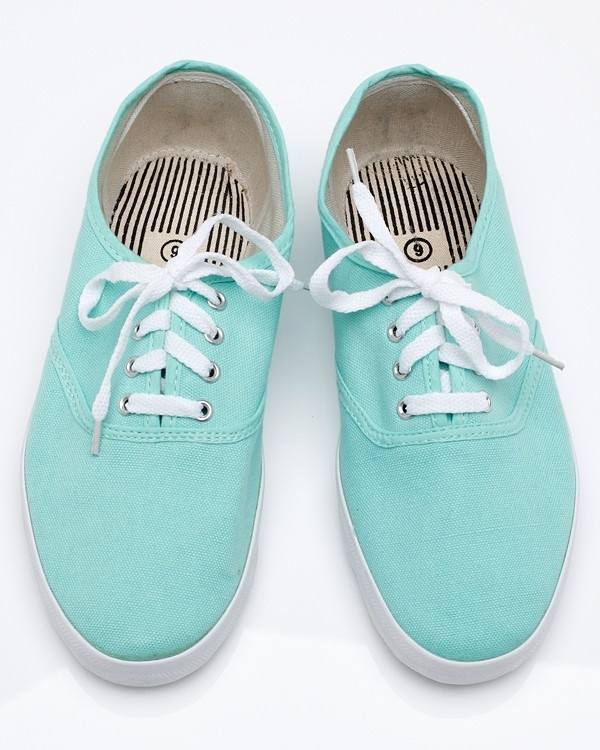 mint green canvas sneakers apparel