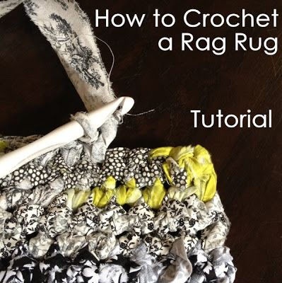 Crocheting Rag Rug Instructions : How to Crochet a Rag Rug Tutorial