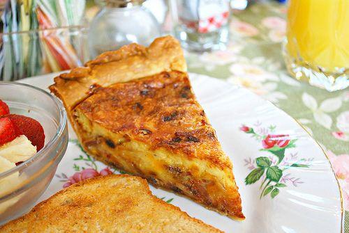 Bacon Swiss Quiche | Fresh from the kitchen | Pinterest