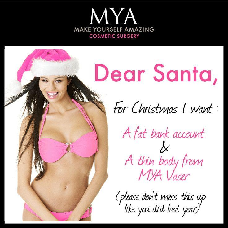 Dear Santa.... #funny #santa #wishlist #MYA #Pink #girl #bikini # ...