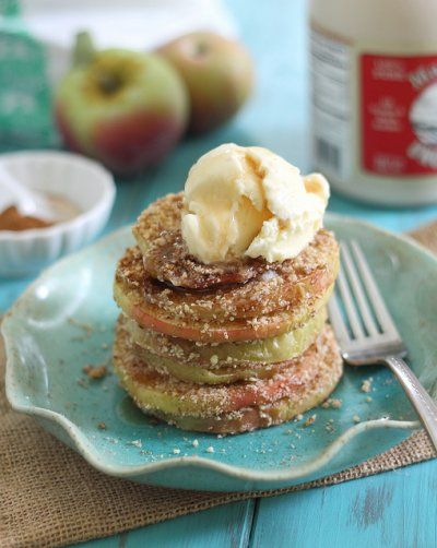 Baked Walnut Apple Crisp Rings by Running to the Kitchen