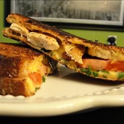 Bruschetta-style Grilled Cheese Sandwich. Simple grilled cheese with a ...