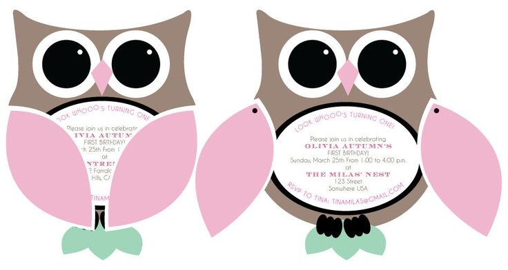 Owl Birthday Invitation Template with adorable invitation template