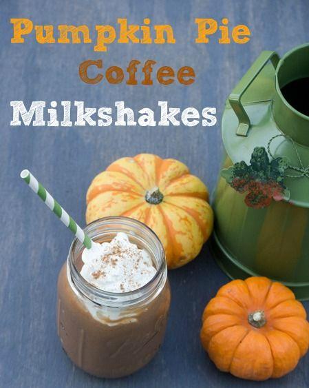 Pumpkin Pie Coffee Milkshakes via @Nicole Novembrino Cook {Daily Dish ...