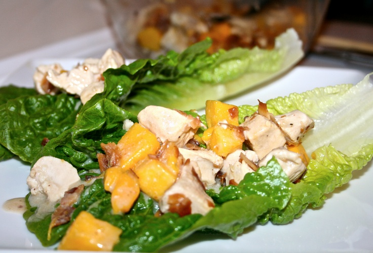 Coconut Mango Chicken Lettuce Wraps | Paleo Recipes | Pinterest