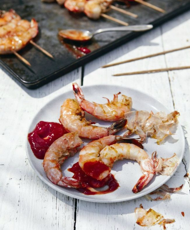 simple grilled shrimp cocktail - always classy, always good.