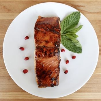 Pomegranate Molasses Salmon | eat, drink, and be merry | Pinterest