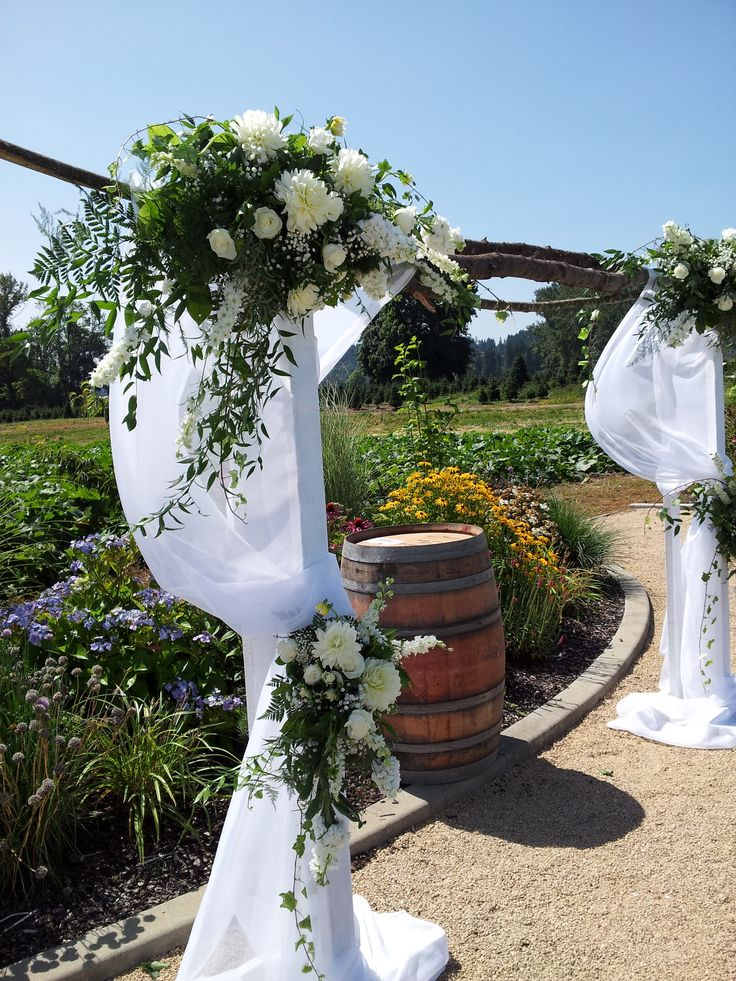 Country Stick Arch With Floral Sprays Wedding Designs Pinterest