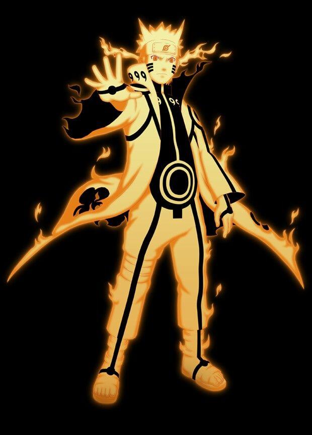 Naruto  kyuubi modeSage Mode And Kyuubi Mode
