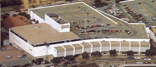 Bullock's - Westwood, freestanding, (1951-2000, SF: 233,000).  View is facing north from Weyburn Avenue side of building.