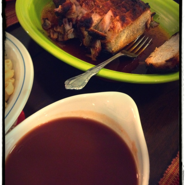Barbeque Pork Loin with Mop Sauce (a spicy, vinegary sauce ...