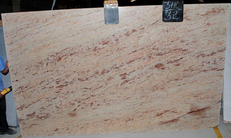 Red Granite Ohio : Ivory brown granite countertop slabs red