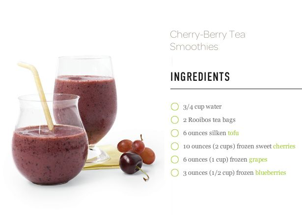 Cherry Berry Tea Smoothie | Food - Chemical free & live food living ...