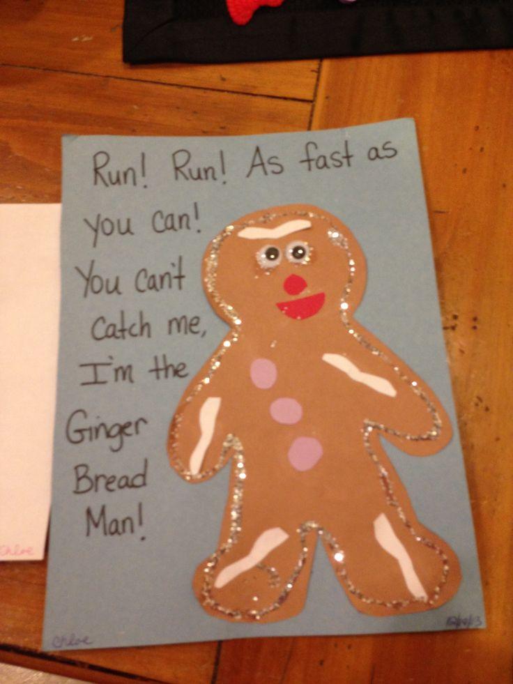 Gingerbread man craft | Preschool | Pinterest