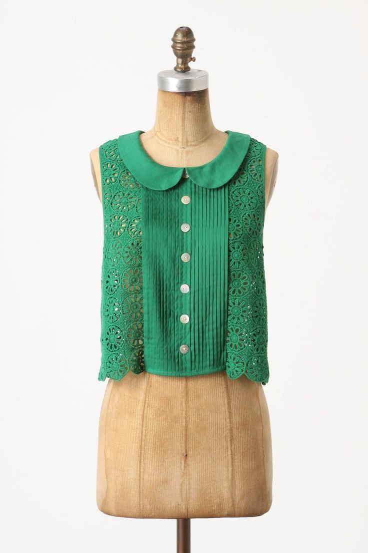 peter pan collar + teal/mint green