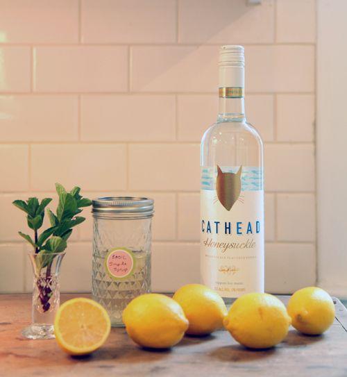 Cathead Vodka honeysuckle lemonade | To Eat | Pinterest