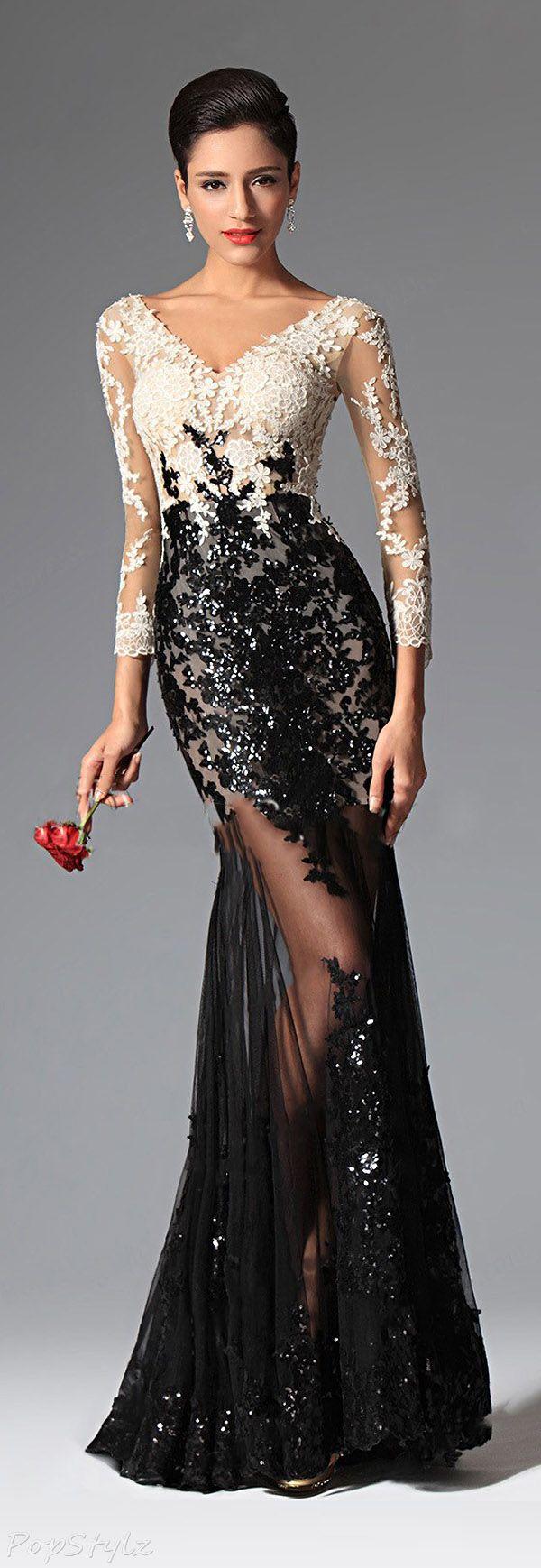 Кружевное выпускное платье фото