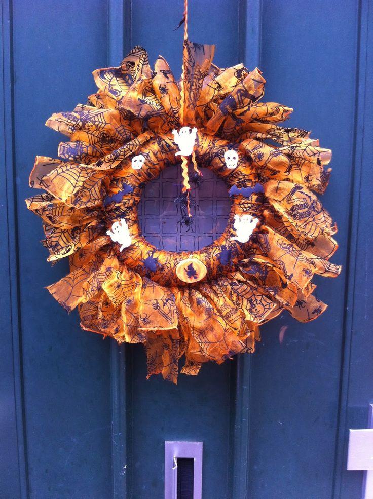 Diy Halloween Wreath Diy Crafts Pinterest