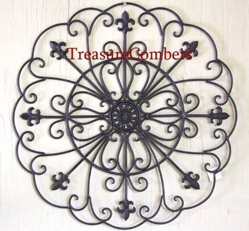 italian decor metal wrought iron 30 round wall grille. Black Bedroom Furniture Sets. Home Design Ideas