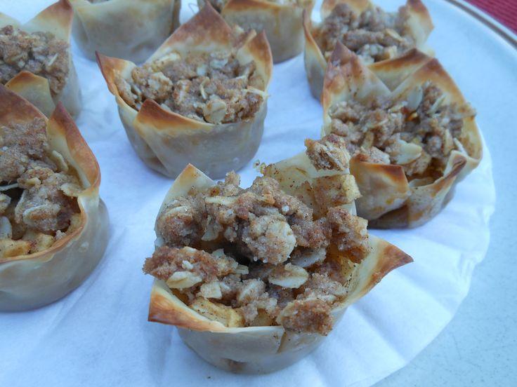 Mini Apple Pies and Crispy Apple Wontons