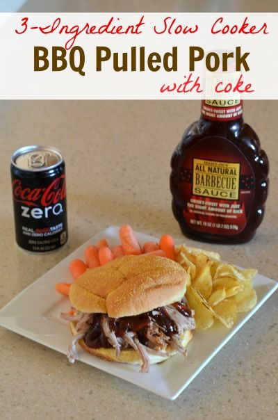 ingredient Slow Cooker BBQ Pulled Pork with Coke Recipe~talk about ...