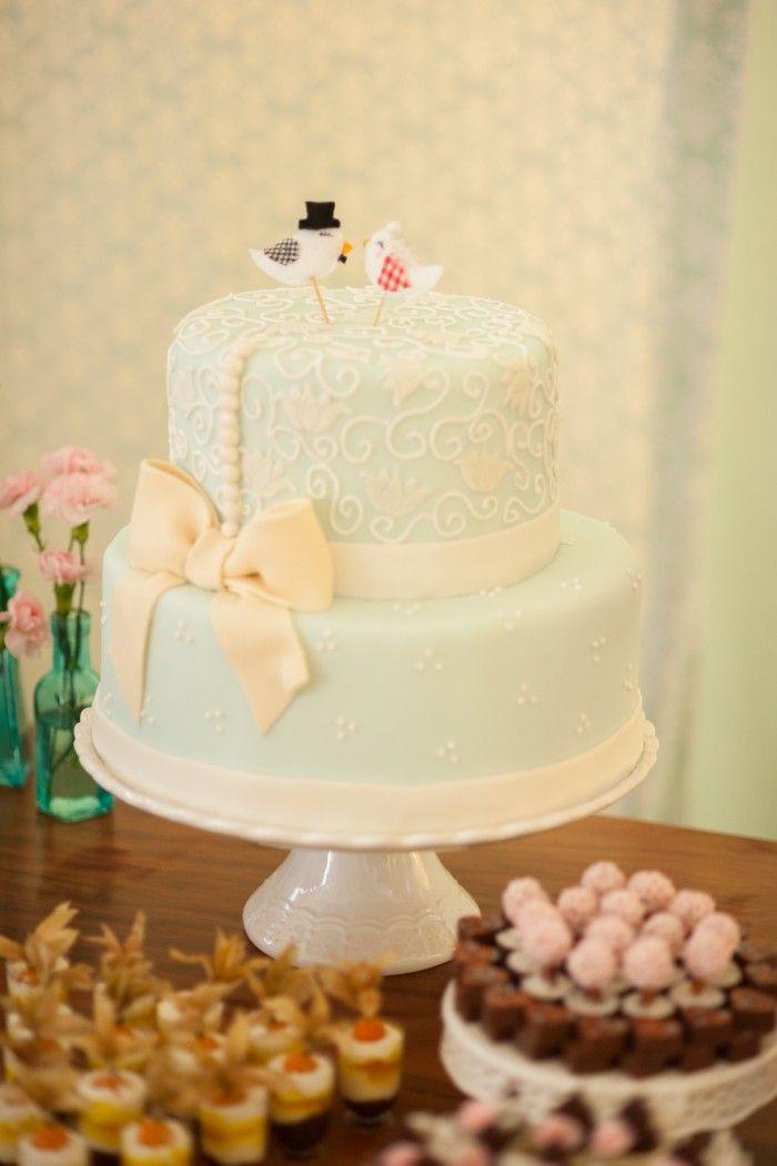 [topo do bolo] Bolo do noivado Jessica e Felipe