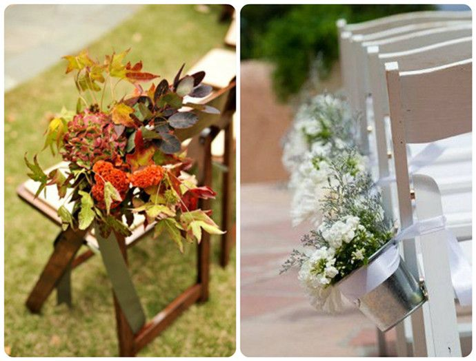 Garden Wedding Chair Decorations : Outdoor wedding chair decorations ideas