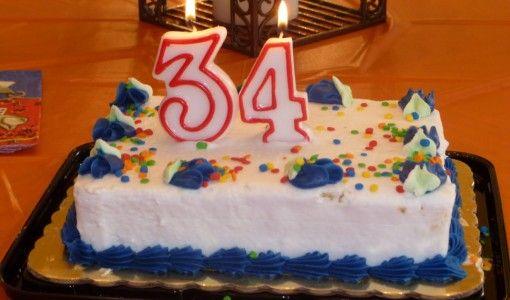 Торт на 34 года фото