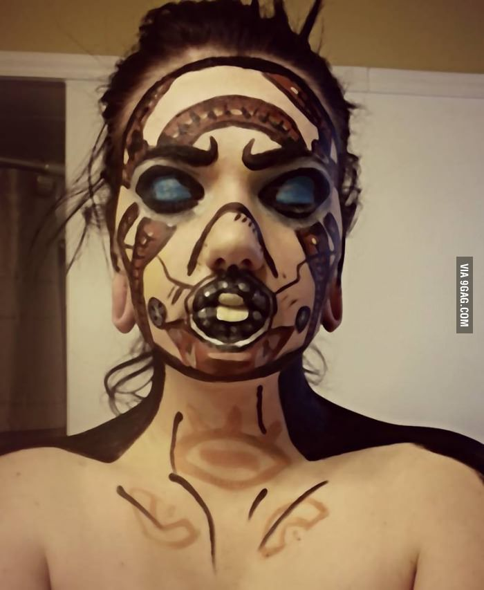 how to make a borderlands psycho mask
