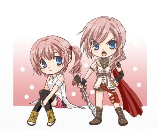 Lightning and Serah ChibiFinal Fantasy Serah And Lightning