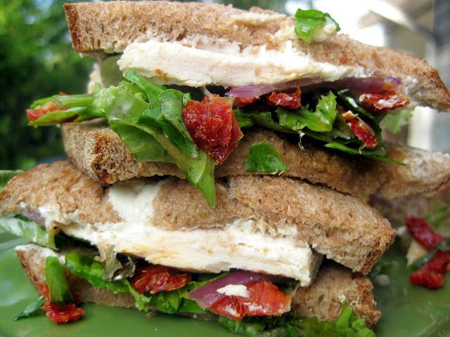Grilled Chicken Sandwiches with Sun-Dried Tomatoes and Goat Cheese - A ...