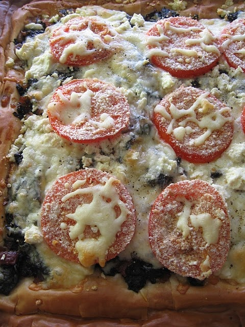 Swiss chard and Feta Phyllo pizza | Recipes!! :D | Pinterest