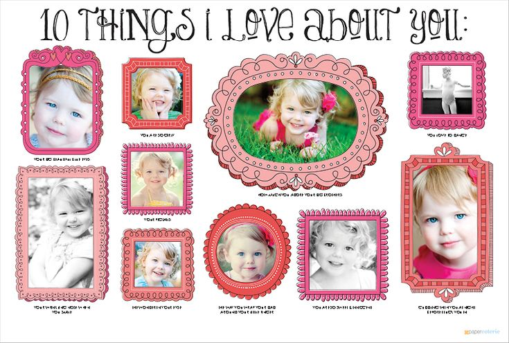 """10 Things I Love About You"" wall art w/photos"