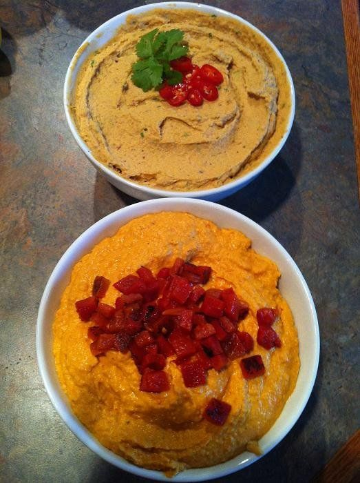 roasted garlic and red pepper hummus