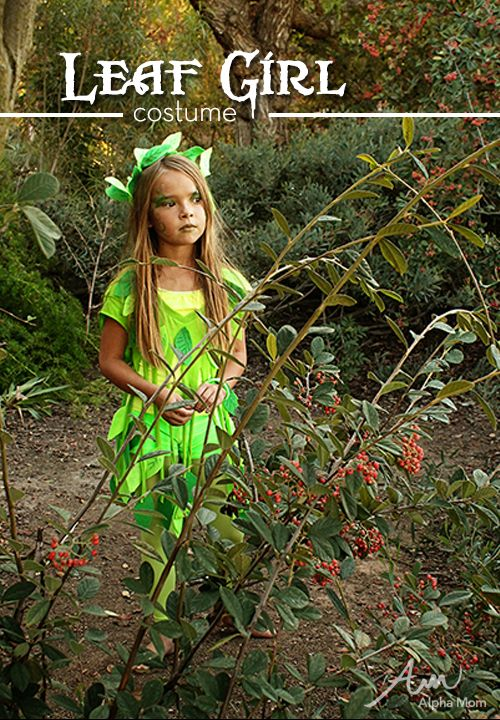 No-Sew Leaf Fairy Halloween Costume by Brenda Ponnay #Halloween
