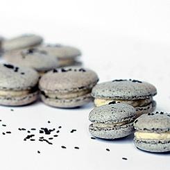 Black Sesame Macarons | Food | Pinterest