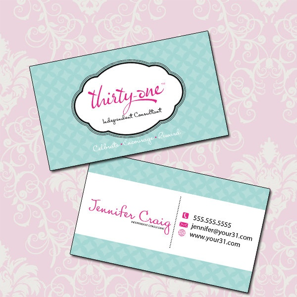 Custom Thirty e Double Sided Business Card Template $10