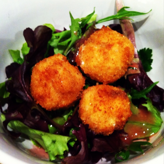 Fried Goat Cheese Salad Recipe — Dishmaps