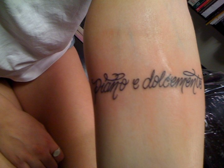 laura ann s first tattoo softly amp sweetly in italian