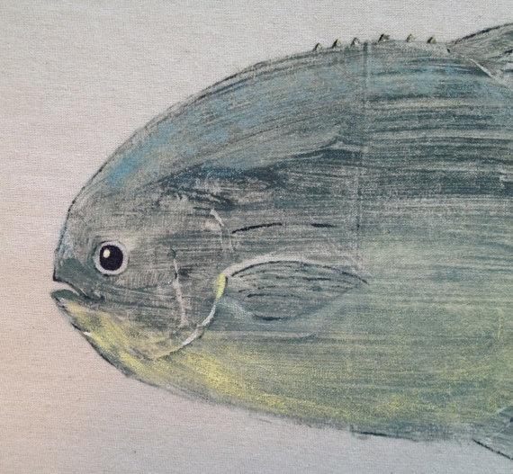 Florida pompano fish print art pinterest for Florida pompano fish